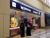 Odette och jag i Centria Mall, Riyadh