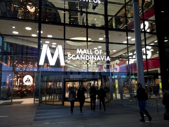Mall of Scandinavia i december 2015